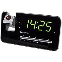 Audiosonic CL-1492 - Radio despertador (display rojo para proyección), negro