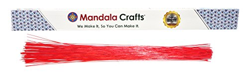 Mandala Crafts weiß braun rot schwarz grün 1820222426Gauge Floristen Stiel Paddel Floral Draht, 40,6cm 100 18 Gauge 1mm rot