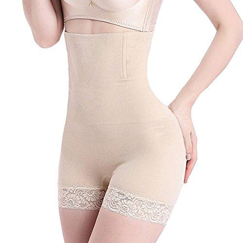 Intimo Modellante da Donna Guaina Contenitiva a Vita Alta Dimagrante Pancera Mutanda Contenitiva Fascia Elastica Shapewear da Donna (carne, XL)