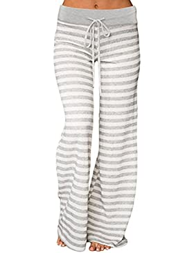 Kinikiss Mujer Pantalones Anchos Casual Floral Talle Alto Pantalón Yoga Jogging Deportivos Grandes M - 2XL