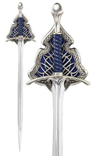 Der Hobbit Gandalf Schwert Glamdring The Noble Collection Dekoschwert mit Wanddisplay 120 cm (Gondor Von Herr Der Ringe Schwert)