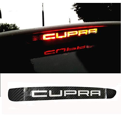 Kohlefaser Bremslicht Aufkleber für LEON Cupra Bremsleuchten Abdeckung Zubehör (Cupra)