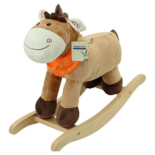 Sweety Toys 3709 Schaukelpferd CUTIE Pony Fohlen mit orangenem Halstuch