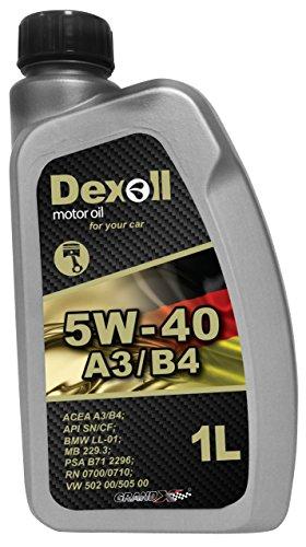 Dexoll PKW Motoröl 5W-40; geeignet für Benzin- und Dieselmotoren, 1 Liter