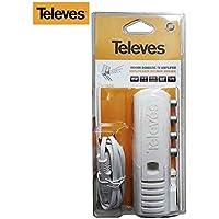 Televes 552840 - Amplificador vivienda 2s+tv cei 47 790mhz g20db