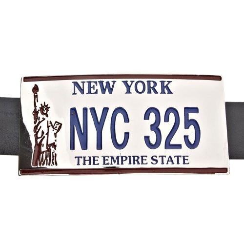 New York NYC License Plate Gürtel