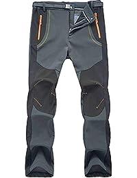 Jywmsc Hombres Al Aire Libre Excursionismo Alpinismo Pantalones Impermeable A Prueba de Viento Softshell Térmico Pantalones