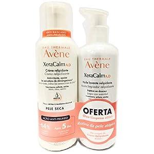 Avène Xera Calm A.D Crème Relipidante Anti-Irritante, Apaise 400 ml + Oferta Huile Lavante Relipidante Netttoie En Douceur 400 ml