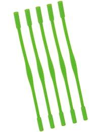NF&E Kids Children Silicone Non-Slip Eyeglasses Sunglasses Strap Band Cord Holder Pack Of 5Pcs Light Green