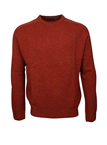 174707 - Bots & Bots - Round Neck Pullover Homme - Lambswool - Normal Fit Rouille