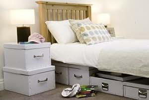 set aus 2 aufbewahrungsboxen k che haushalt. Black Bedroom Furniture Sets. Home Design Ideas