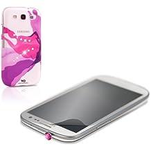 White Diamonds Liquid - Carcasa con botón de cristal para Samsung Galaxy S3, color rosa
