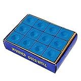 Wolike Biliardo e biliardo Pioneer Gesso, blu, scatola da 12 pezzi