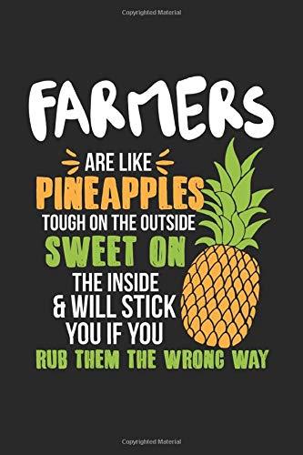 Farmers Are Like Pineapples. Tough On The Outside Sweet On The Inside: Landwirt Ananas Notizbuch / Tagebuch / Heft mit Karierten Seiten. Notizheft mit ... Planer für Termine oder To-Do-Liste. (Schwein Terminkalender)