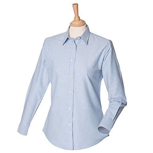 Henbury Damen Modern Bluse Blau