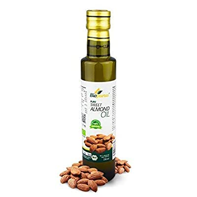 Certified Organic Cold Pressed Sweet Almond Oil 250ml Biopurus from Austria
