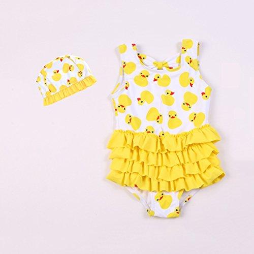 Mädchen Schwimmen Verkauf Kostüm - SUNNY Kleine Mädchen Bademode Kinder Ein Stück Strandkleidung Urlaub Schwimmen Kostüm ( größe : XXL(120-130CM) )