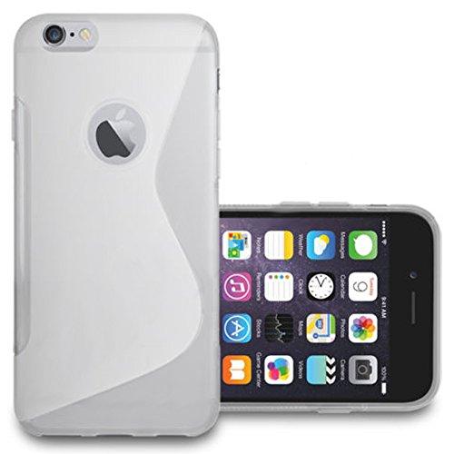VComp-Shop® S-Line TPU Silikon Handy Schutzhülle für Apple iPhone 6/ 6s + Großer Eingabestift - TRANSPARENT TRANSPARENT