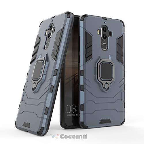 Cocomii Black Panther Armor Huawei Mate 9 Hülle NEU [Strapazierfähig] Taktisch Metallring Griff Ständer [Funktioniert Mit Magnetischer Autohalterung] Case Schutzhülle for Huawei Mate 9 (B.Black)