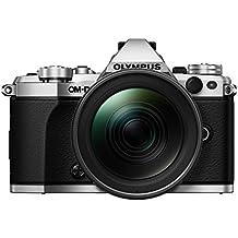 """Olympus OM-D E-M5 Mark II - Cámara EVIL de 16.1 Mp (pantalla 3"""", estabilizador, grabación de vídeo), color plateado - Kit cuerpo cámara con objetivo M.ZUIKO EZ 12 - 40mm f/2.8"""