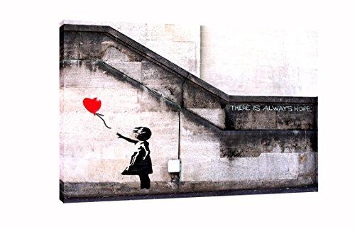 Banksy Ballon Girl Hope Wandschmuck auf Leinwand Fotos Bilder, 30 x 20 inch -38mm depth (38 Leinwand X 30)