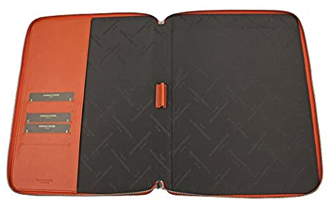 Fedon 1919 BT-PB-A5 Document File in High-Quality Nappa Leather, Orange