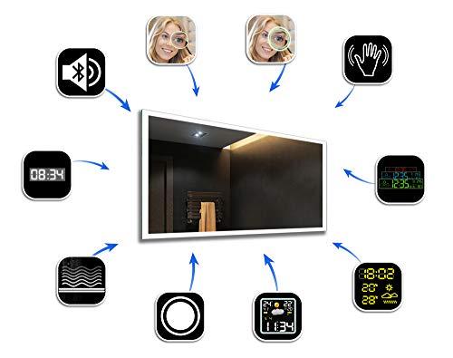 Badezimmerspiegel nach Maß mit LED Beleuchtung - 5