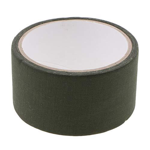 P Prettyia Tarnband Gewebeband Klebeband Camo Camouflage Tape für Kamera Objektiv - Armeegrün