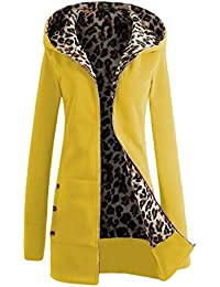 BESTHOO Abrigo Con Capucha Mujer Blusa Tops Encapucha Jacket Hoodie Coat Outwear Manga Larga Otoño Cremallera Chaquetas…