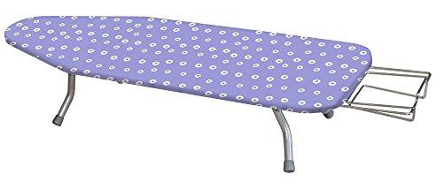 Alpha Toppy - Asse da stiro da tavolo con piano 100x35 cm, argento, acrilico