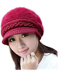 iSweven Fashionable Woolen Beanie Cap for Women- (4022, Free Size)