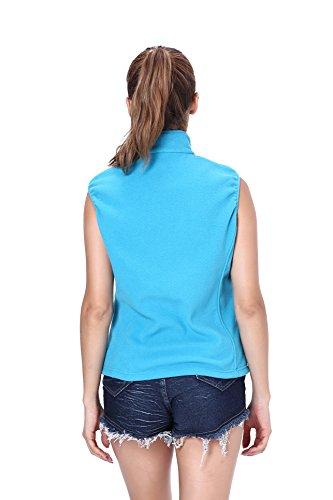 Clothin Damen Weste Himmelblau