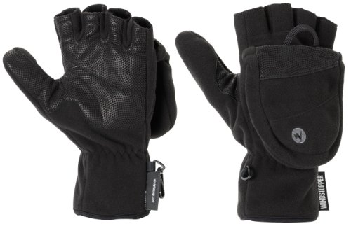 Marmot, Windstopper Uomo Guanti Convertible, Nero (black), XL