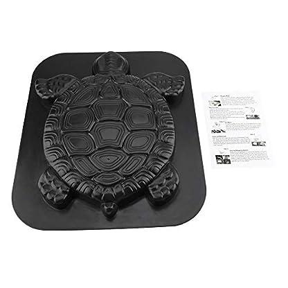 FTVOGUE – Molde para Tortuga con Piedra de Escalar para pavimento de hormigón, para jardín, césped, pavimento