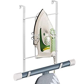 ArtMoon Flint | Over Door Iron and Ironing Board Holder | Door Hanger for Ironing Board | Space Saver | Vinyl Coated Steel | 24.5X9.5X42.5cm
