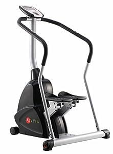 AsVIVA ST4 Profi Stepper Ergometer Cardio - Sportgerät/Fitnessgerät mit Pulsempfänger ein Power Heimtrainer, schwarz