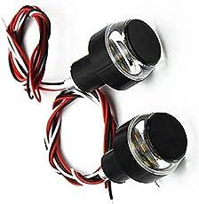 PR Motorcycle DRL/Turn Signal LED Light Blinker Indicator Handle Bar End Universal Fitment for All Bike- for Bajaj Discover 125 Disc