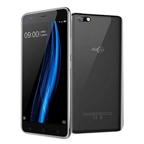 Wifi 3g Smartphone (Handy AllCall Madrid 5.5 '' Uldrathin Android7.0 Quad Core 1G + 8G 3G WiFi Doppel SIM HD Smartphone (Black))