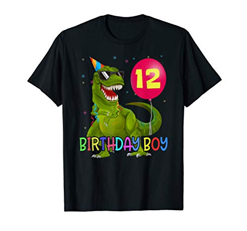Dino 12 Jahre T-SHIRT T-Rex Junge 12. Geburtstag Dinosaurier