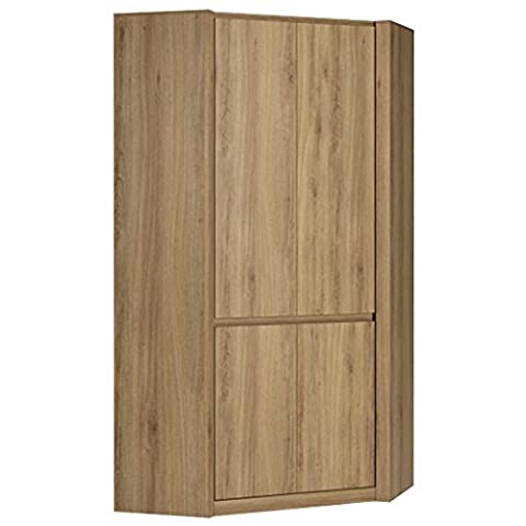Furniture To Go Hobby Corner Wardrobe, Wood, Oak Melamine