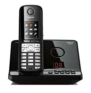 Gigaset S810A Black Limited Edition Schnurlostelefon (4,6cm (1,8 Zoll) TFT-Farbdisplay, Freisprecheinrichtung, Anrufbeantworter) glossy-schwarz