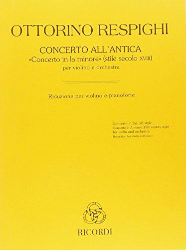 Concerto All'Antica Concerto In La Minore