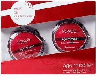 Pond's Age Miracle Cell Regen Day Cream Spf15pa++ And Deep Action Night Cream - Retinol, Alpha-hydroxy -