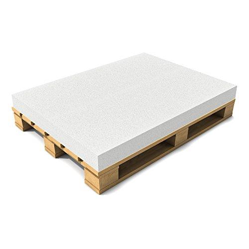 [neu.haus] Schaumstoff 120 x 80 x 10 cm Öko-Tex Standard Matratze Palettenauflage Palettenkissen Polster Weiß -