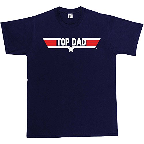 Top Dad Top Gun Parody T-shirt - Ideal Birthday Gift - S to 3XL