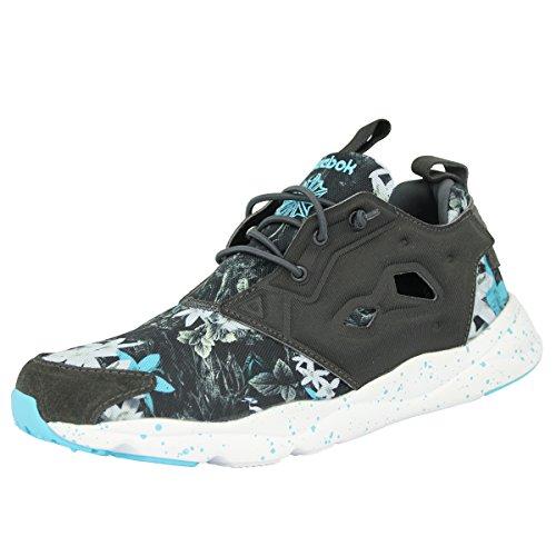 outlet store 33a68 0f55c Reebok Furylite Np, Chaussures Basses Pour Homme Noir / Blanc / Bleu  charbon / Blanc / Bleu Fluo