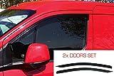 2x Deflettori D'Aria Compatibile con Ford Transit Connect 2013 (Mk2) Antiturbo Per Auto Vetro Acrilico Anti Vento Guardia di Pioggia Sole Neve Qualità premium PMMA