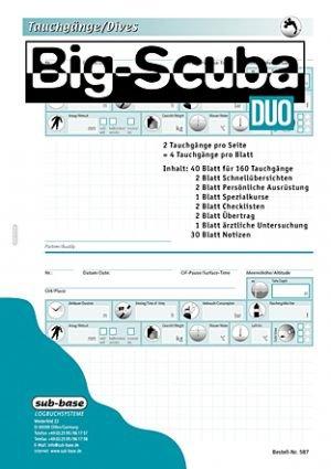sub-base Logbuch Einlagen DUO mit PADI Lochung auch für IQ L Logbuch geeignet!!
