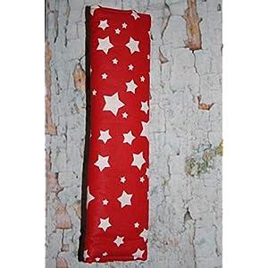 Auto Gurtpolster für Kinder und Erwachsene rot mit weißen Sternen Stars Sternchen
