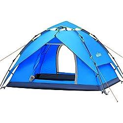 IREGRO Instantanée Familiale Tente 3-4 Personnes Grand Automatique Pop-Up Ttentes imperméabiliser tentes abri du Soleil pour Les Sports de Plein air Camping randonnée Voyage Plage